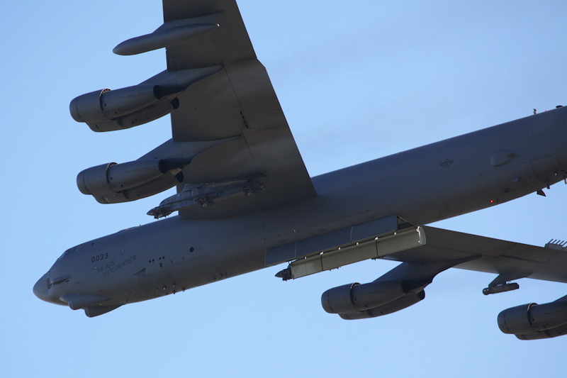 """60-0033 / MT Boeing B-52H Stratofortress (cn 464398), named """"Peace Persuader"""", of US Air Force, 23rd Bombardment Squadron """"Bomber Barons"""", 5th Bombardment Wing, Minot AFB, North Dakota, USA at RAAF Pearce Air Show - Sat 19 May 2012"""