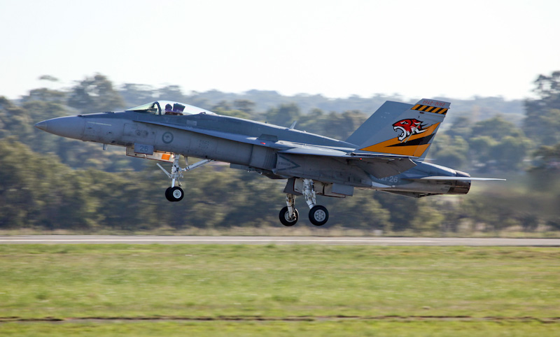 A21-26 McDonnell-Douglas F/A-18A Hornet (cn 506/AF-26) of 2 OCU, based at Williamtown, NSW at RAAF Pearce Air Show - Sat 19 May 2012.
