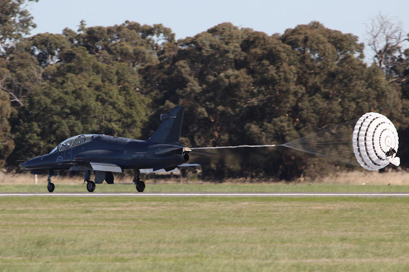 A27-03 BAE Systems Hawk 127 (cn DT03, ex ZJ634) of RAAF, 79 Squadron, based locally at RAAF Base Pearce, at RAAF Pearce Air Show - Sat 19 May 2012.