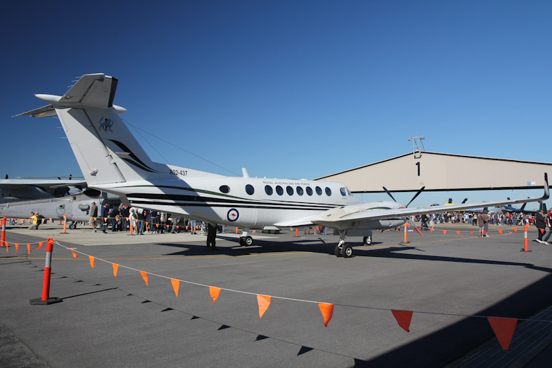 A32-437 Beech B300 King Air 350 (cn FL-437) of RAAF, 38 Sqn, Townsville, QLD at RAAF Pearce Air Show - Sat 19 May 2012.