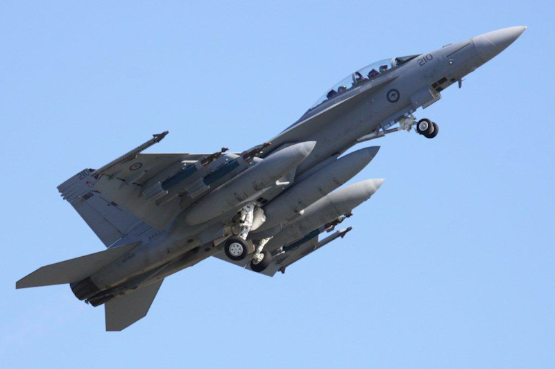 A44-210 Boeing F/A-18F Super Hornet (cn AF-10, ex 167966) of RAAF, 1 Squadron, Amberley, Queensland at RAAF Pearce Air Show - Sat 19 May 2012.