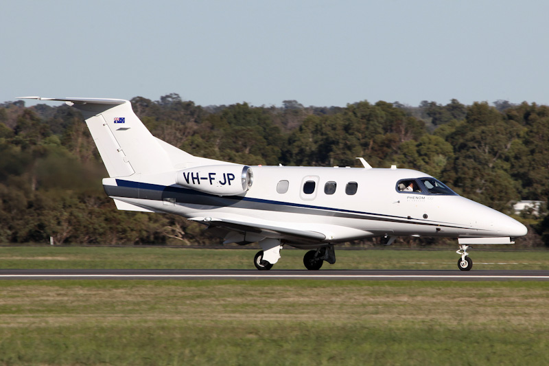 VH-FJP Embraer 500 Phenom 100 (cn 50000237, ex PT-TDL) of China Southern West Australian Flying College Pty Ltd, based at Jandakot, at RAAF Pearce Air Show - Sat 19 May 2012. Photo © Matt Hayes