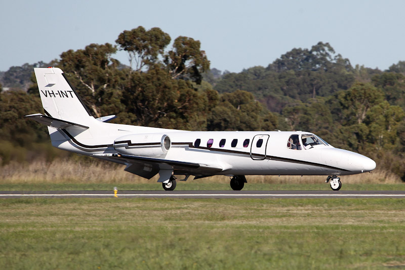 VH-INT Cessna 550 Citation II (cn 550-0102) of Revesco Aviation, based at Perth Airport - Sat 19 May 2012. Photo © Matt Hayes