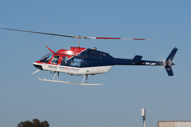 VH-LHP Bell 206L-3 LongRanger III (cn 51002) owned by Heliwest (Helibits Pty Ltd) at RAAF Pearce Air Show - Sat 19 May 2012. Photo © David Eyre