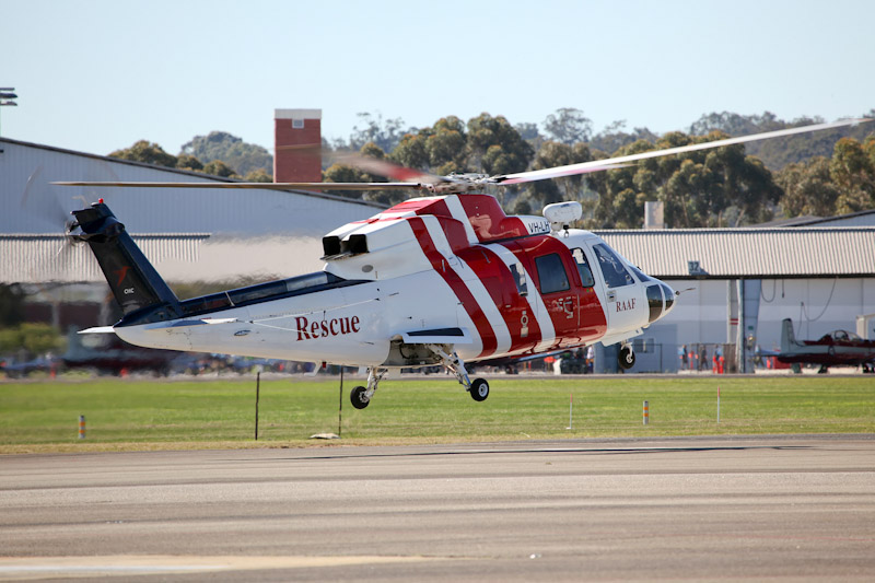 VH-LHY Sikorsky S-76A+ (cn 760105) of CHC Helicopters / operated for the RAAF as a rescue helicopter, based at Pearce, at RAAF Pearce Air Show - Sat 19 May 2012. Photo © Matt Hayes