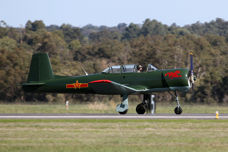 VH-NNV Nanchang CJ-6A (cn 5432024) of Fighter Combat International at RAAF Pearce Air Show - Sat 19 May 2012.