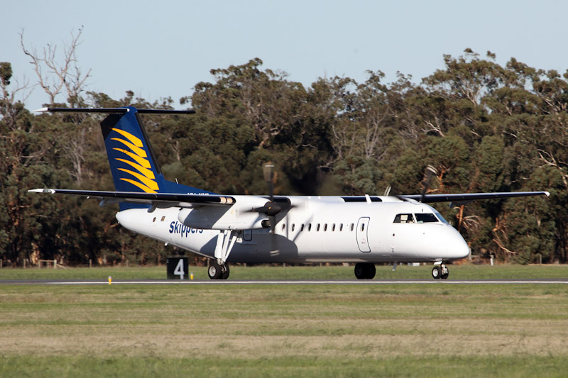 VH-XKI De Havilland Canada DHC-8-315Q Dash 8Q-300 (cn 587) of Skippers Aviation at RAAF Pearce Air Show - Sat 19 May 2012.