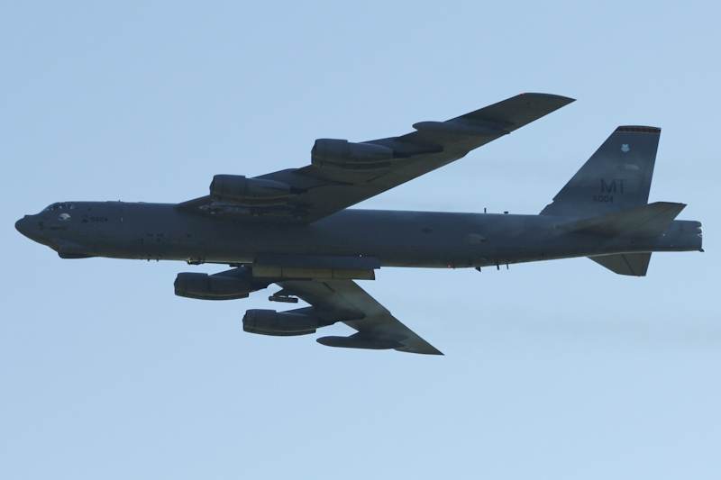 """60-0004 / MT Boeing B-52H Stratofortress (cn 464369) of US Air Force, 23rd Bombardment Squadron """"Bomber Barons"""", 5th Bombardment Wing, Minot AFB, North Dakota, USA at RAAF Pearce Air Show - Sun 20 May 2012."""