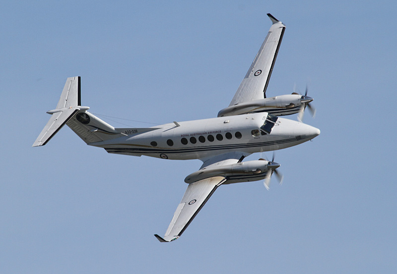 A32-339 Beech B300 King Air 350 (cn FL-339) of RAAF, 32 Sqn, East Sale, VIC, at RAAF Pearce Air Show - Sat 19 May 2012.