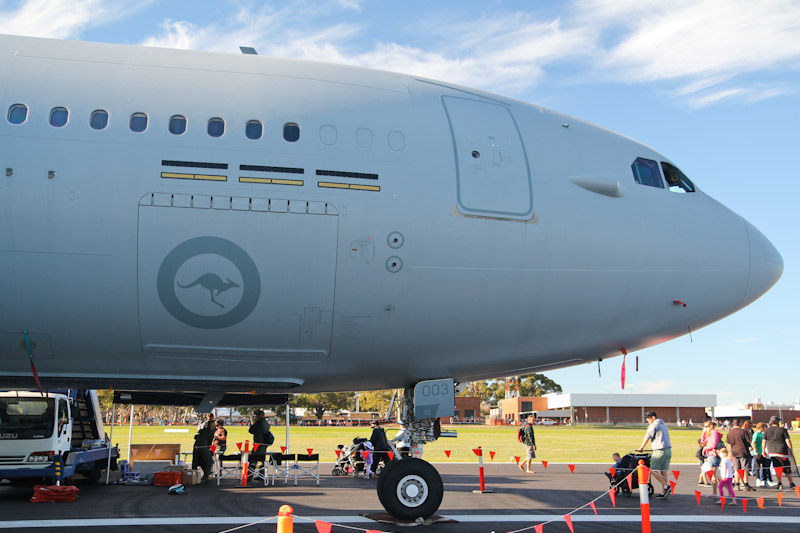 A39-003 Airbus KC-30A (A330-200 MRTT) (cn 969 ex F-WWYQ, EC-334 ) of RAAF, 33 Sqn, Amberley, QLD at RAAF Pearce Air Show - Sun 20 May 2012.