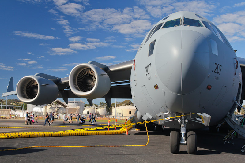 A41-207 Boeing C-17A Globemaster III (cn F-173/AUS2, ex 06-0207) of RAAF, 36 Sqn, based at Amberley, QLD at RAAF Pearce Air Show - Sun 20 May 2012.