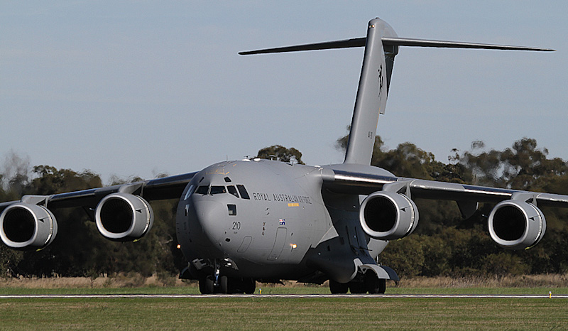 A41-210 Boeing C-17A Globemaster III (cn F-239/AUS5, ex 11-0210) of RAAF, 36 Sqn, based at Amberley, QLD at RAAF Pearce Air Show - Sun 20 May 2012.