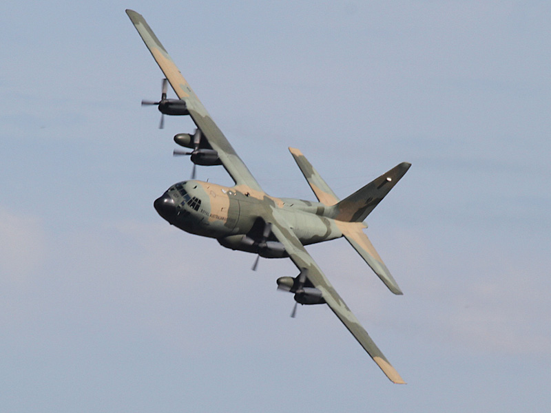 A97-007 Lockheed C-130H Hercules (cn 4787) of RAAF, 37 Sqn, Richmond, NSW at RAAF Pearce Air Show - Sun 20 May 2012.