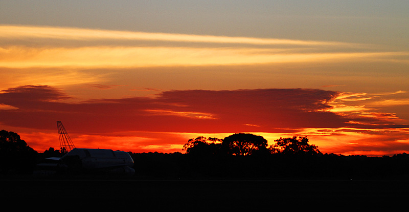 Sunset at RAAF Pearce Air Show - Sun 20 May 2012.