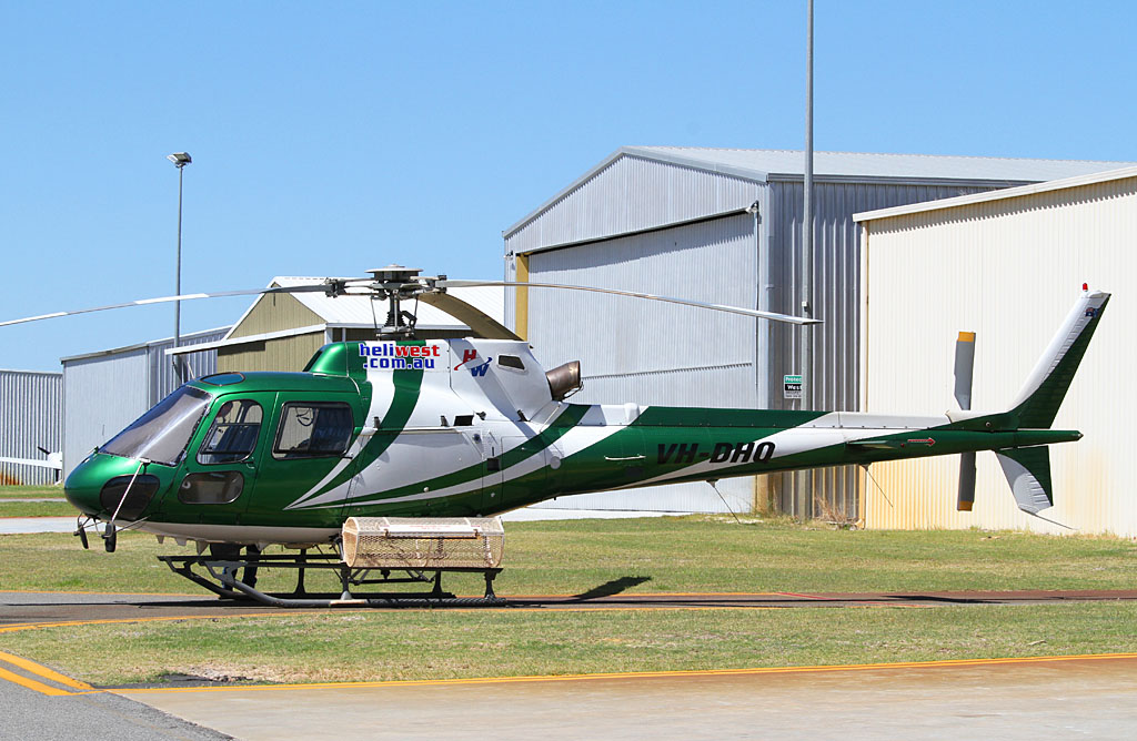 VH-DHQ Eurocopter AS350B2 Squirrel (cn 9057) of Heliwest at Jandakot Airport - Fri 22 March 2012.