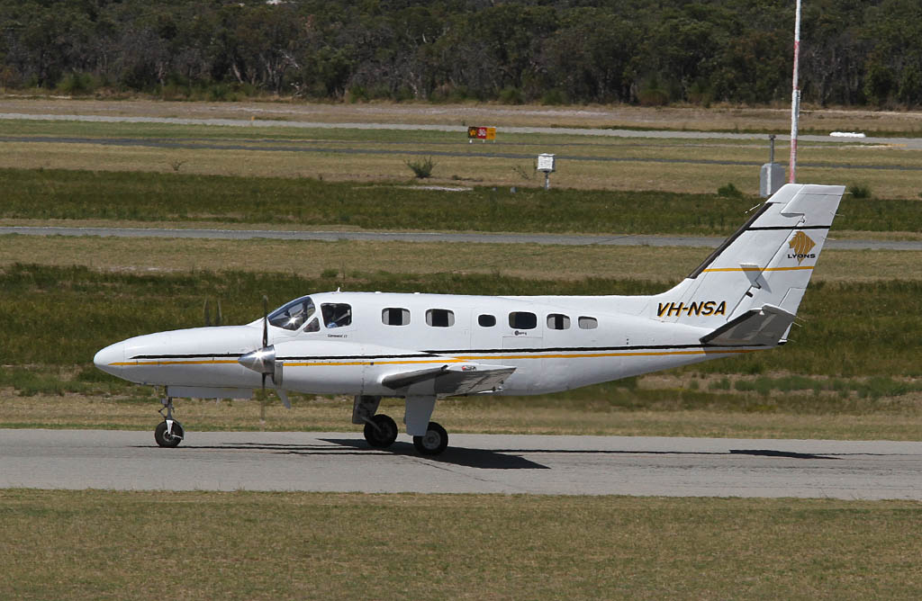 VH-NSA Cessna 441 Conquest II (cn 441-0087) Paul Lyons Aviation (Aerohire Pty Ltd) at Jandakot Airport - Fri 22 March 2013
