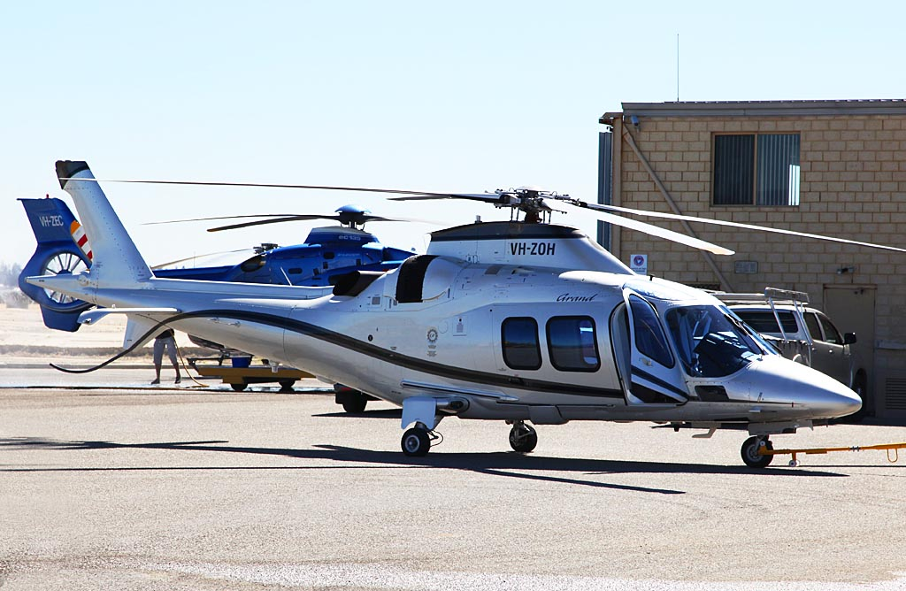 VH-ZOH AgustaWestland AW109S Grand (cn 22152) of AVWest Aircraft Pty Ltd at Fremantle Heliport - Fri 22 March 2013.