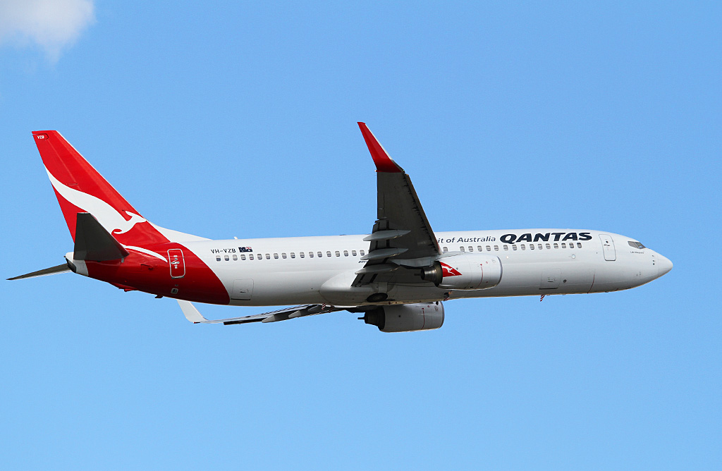 "VH-VZB Boeing 737-838 (cn 34196/2623) of Qantas, named ""Lake Macquarie"" at Perth Airport - Wed 27 March 2013."
