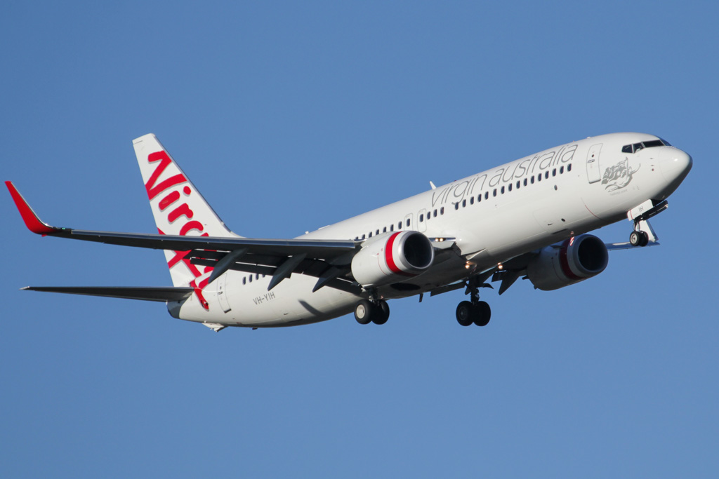 "VH-YIH Boeing 737-8FE (cn 38712/4070) of Virgin Australia, named ""Hastings Point"" at Perth Airport - Sat 30 March 2013."