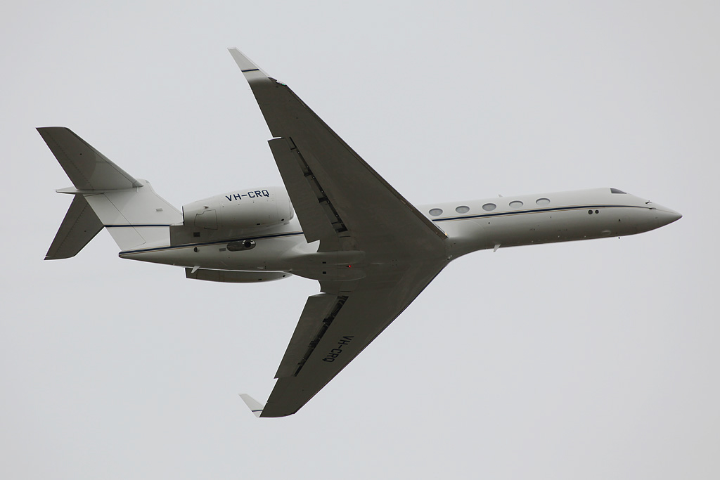VH-CRQ Gulfstream Aerospace G.V (cn 603) owned by Crown Melbourne Ltd at Perth Airport - Sun 14 April 2013.