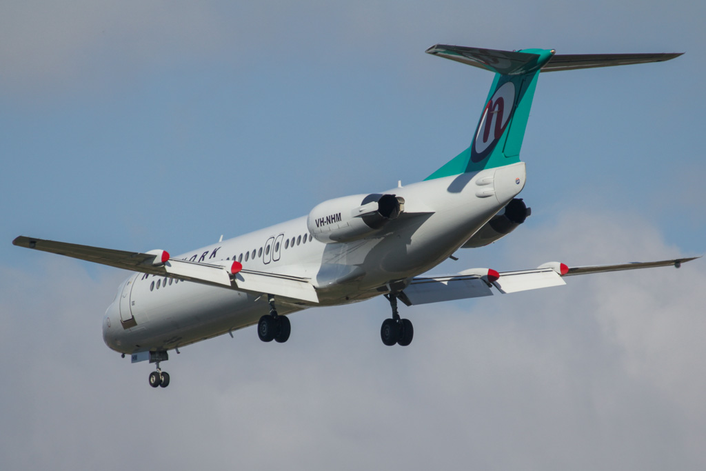 VH-NHM Fokker 100 (cn 11449) of Network Aviation at Perth Airport – Fri 26 April 2013