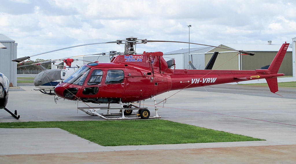VH-VRW Eurocopter AS350B2 Squirrel (cn 2115) of Heliwest / Heliwest Leasing Pty Ltd at Jandakot Airport - Sat 27 April 2013.