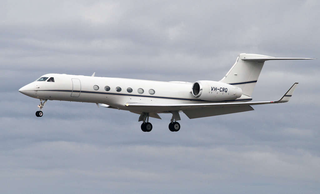 VH-CRQ Gulfstream Aerospace G.V (cn 603) owned by Crown Melbourne Ltd at Perth Airport - Wed 1 May 2013.