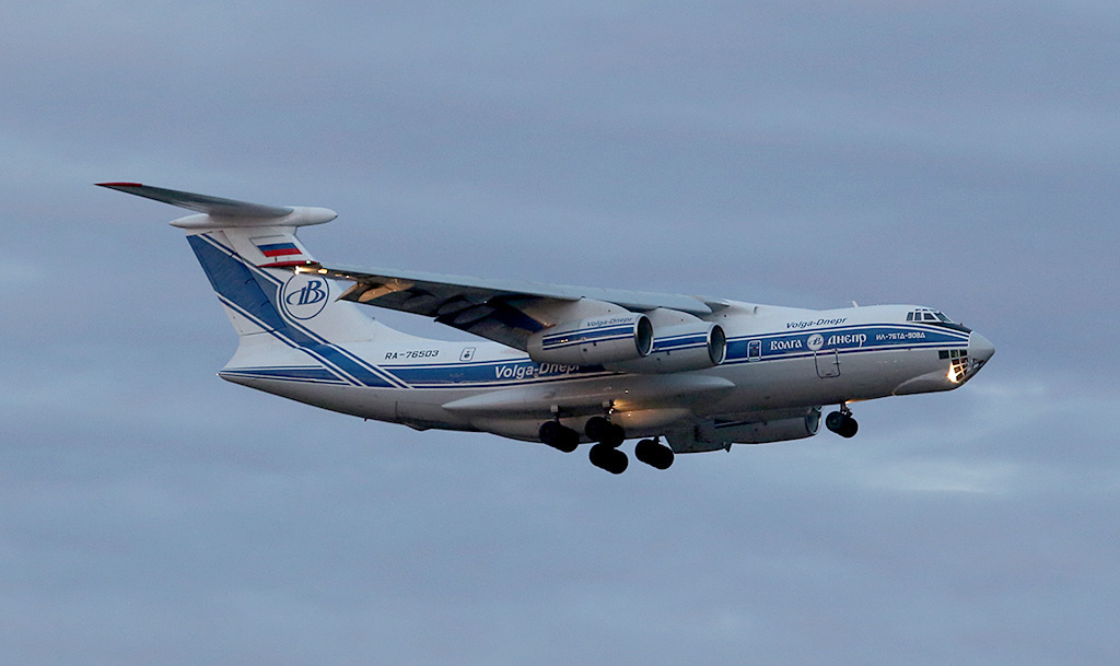 RA-76503 Ilyushin Il-76TD-90VD (cn 2113422748 / line no. 94-07) of Volga-Dnepr Airlines at Perth Airport – Sun 5 May 2013