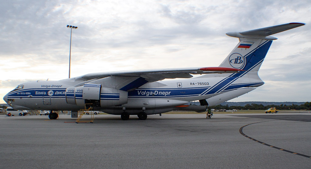 RA-76503 Ilyushin Il-76TD-90VD (cn 2113422748 / line no. 94-07) of Volga-Dnepr Airlines at Perth Airport – Mon 6 May 2013
