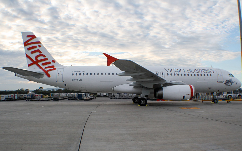VH-YUD Airbus A320-232 (cn 1922) of Virgin Australia Regional Airlines (formerly Skywest Airlines)(leased from BOC Aviation) at Perth – Tue 7 May 2013