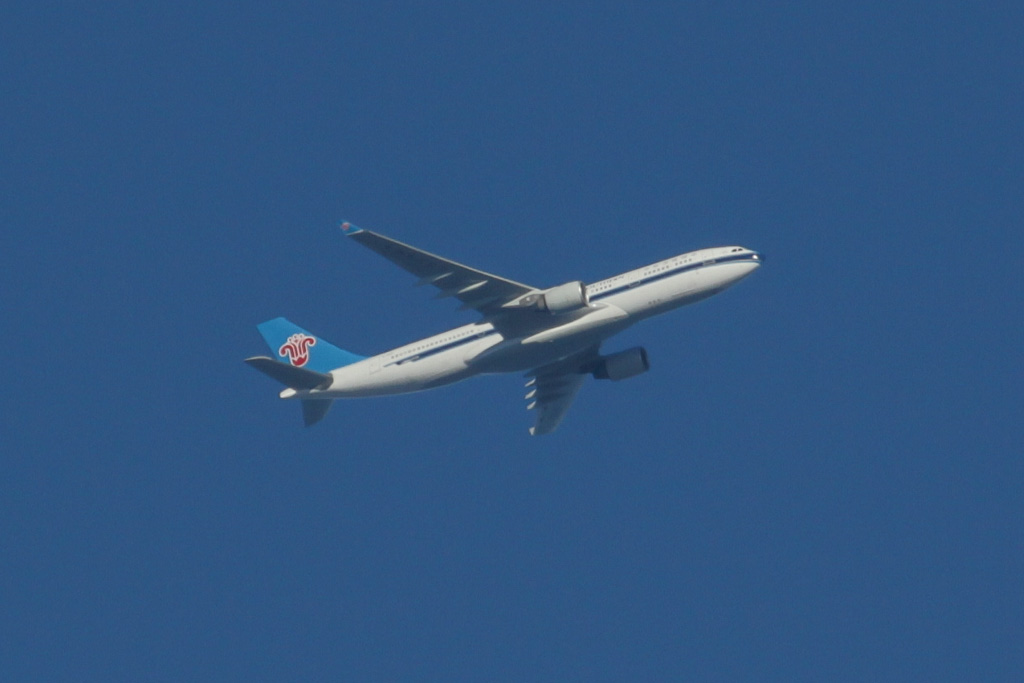 B-6531 Airbus A330-223 (cn 1233) of China Southern Airlines over the northern suburbs of Perth - Sun 19 May 2013