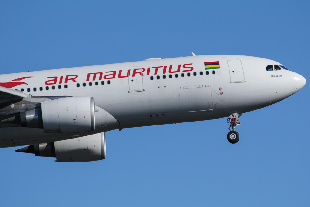 "3B-NBL Airbus A330-202 (cn 1057) of Air Mauritius, named ""Nénuphar"" at Perth Airport – Fri 24 May 2013"