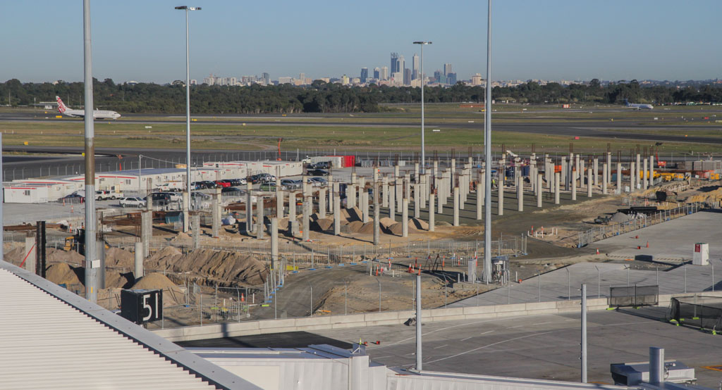 Domestic Pier under construction at Terminal 1 - Perth Airport - Fri 24 May 2013