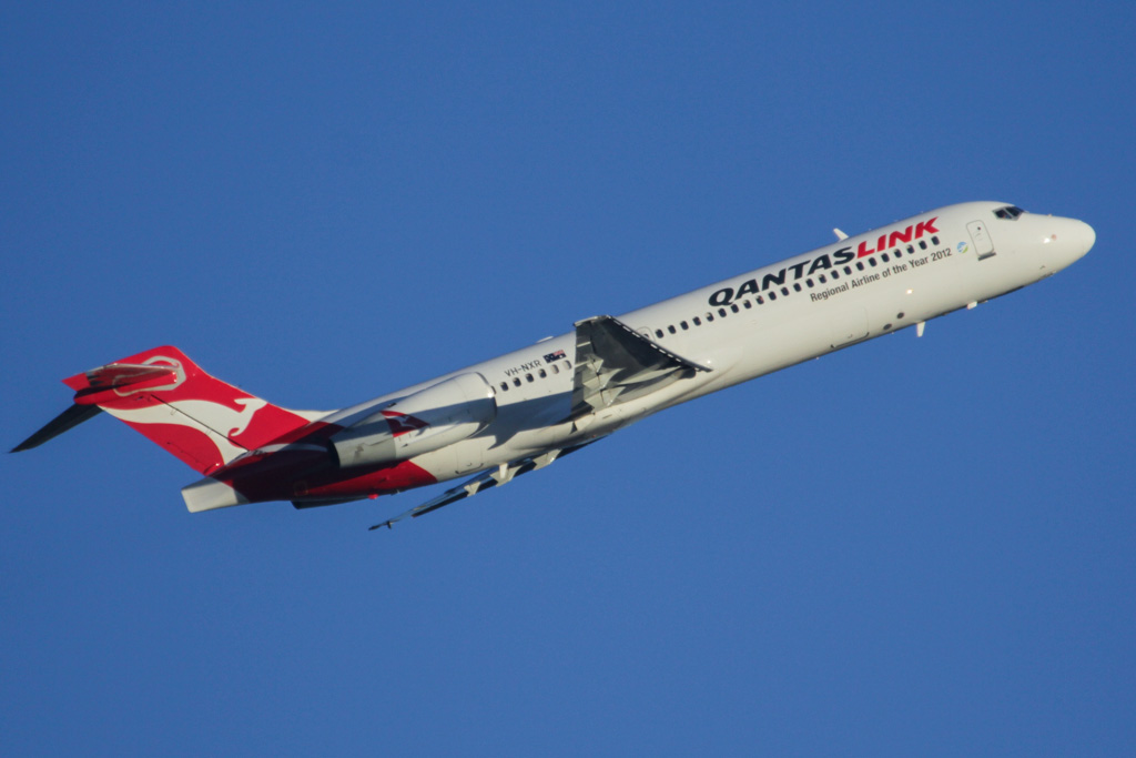 VH-NXR Boeing 717-2BL (cn 55168/5118) of QantasLink at Perth Airport – Fri 24 May 2013