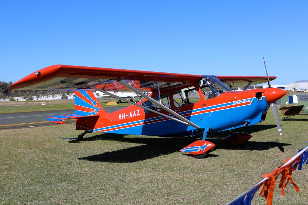 VH-AAZ American Champion 8KCAB Super Decathlon (cn 752-95) of David Forsyth at Jandakot Airport – Sun 26 May 2013 – ACFT Open Day