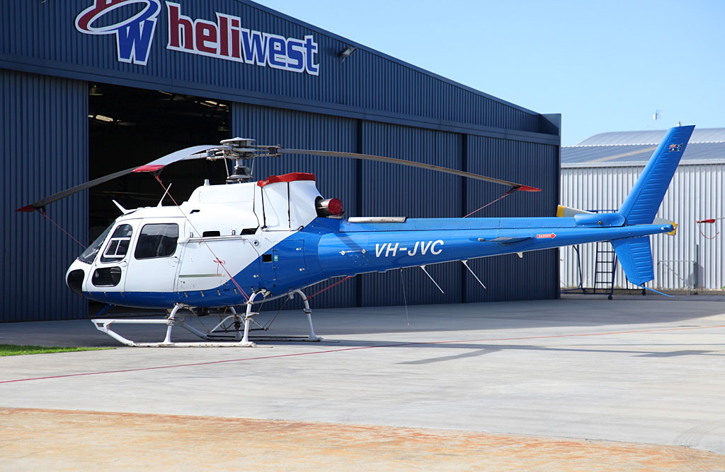 VH-JVC Eurocopter AS350BA Squirrel (cn 1516) of Heliwest / Rotorwest Pty Ltd at Jandakot Airport - Sun 26 May 2013