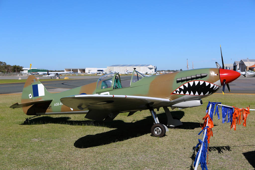 "VH-XST / ""A58-497 / RG-V"" Supermarine Aircraft Spitfire Mk.XXV replica (cn 011) of Peter Yates, named ""Ecstasy"" at Jandakot Airport – Sun 26 May 2013 – ACFT Open Day"