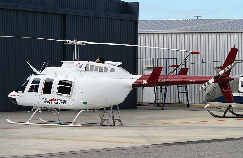 VH-ZHP Bell 206L-1 LongRanger II (cn 45308) of Heliwest (Helibits Pty Ltd) at Jandakot Airport - Sun 26 May 2013