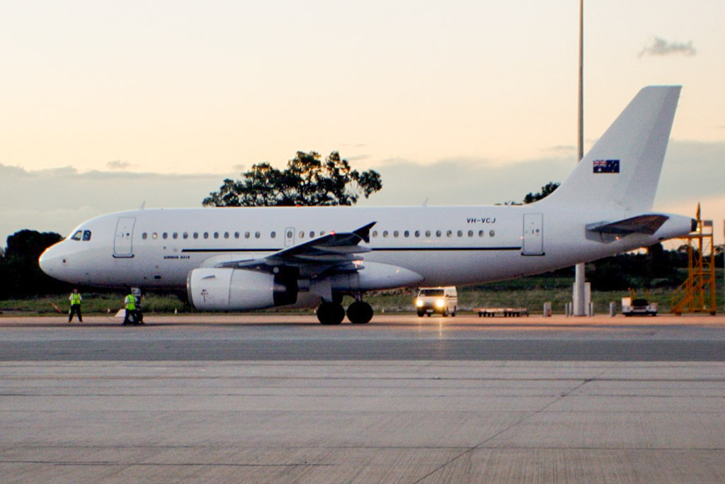 VH-VCJ Airbus A319-132LR (cn 1880) of Skytraders at Perth Airport - Thu 30 May 2013