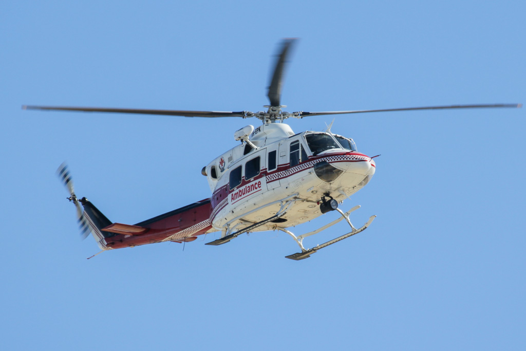VH-EPK Bell 412EP (cn 36100) of CHC Helicopters/Victorian Air Ambulance, on lease to the WA Department of Fire and Emergency Services at Jandakot Airport – Mon 3 June 2013