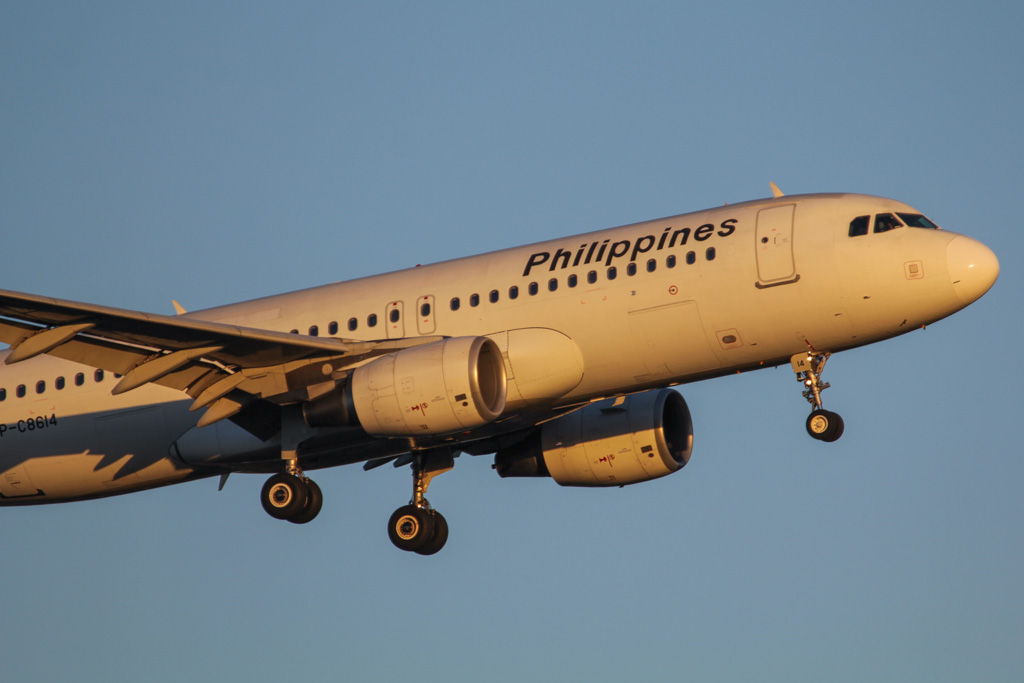RP-C8614 Airbus A320-214 (cn 3652) of Philippine Airlines at Perth Airport – Fri 7 June 2013