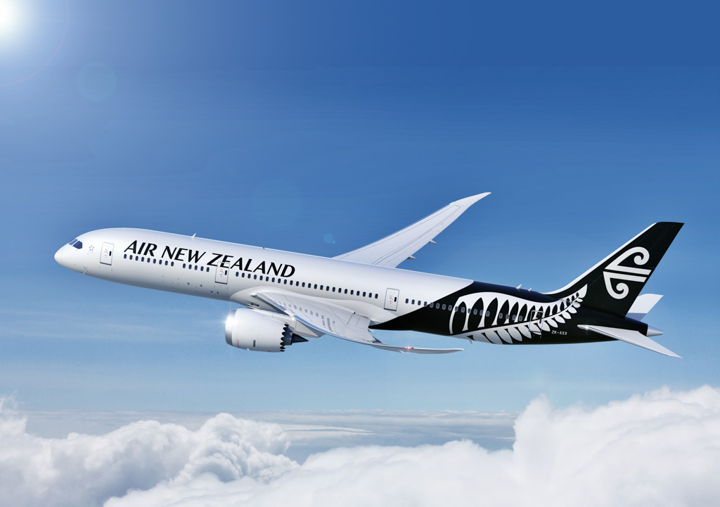 Air New Zealand's new black and white livery