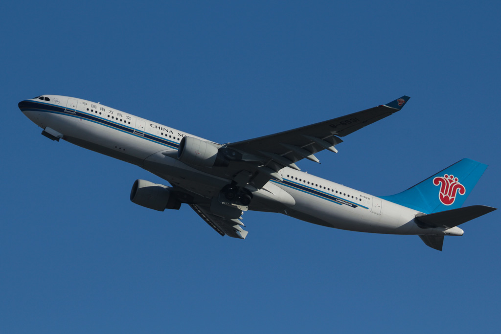 B-6531 Airbus A330-223 (cn 1233) of China Southern Airlines at Perth Airport - Wed 19 June 2013.