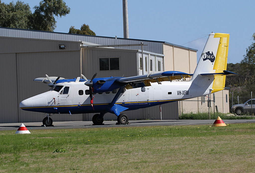 VH-XFM De Havilland Canada DHC-6-200 Twin Otter (MSN 164) of Fortescue Metals Group (operated by Heliwest) at Jandakot Airport - Sun 11 August 2013.