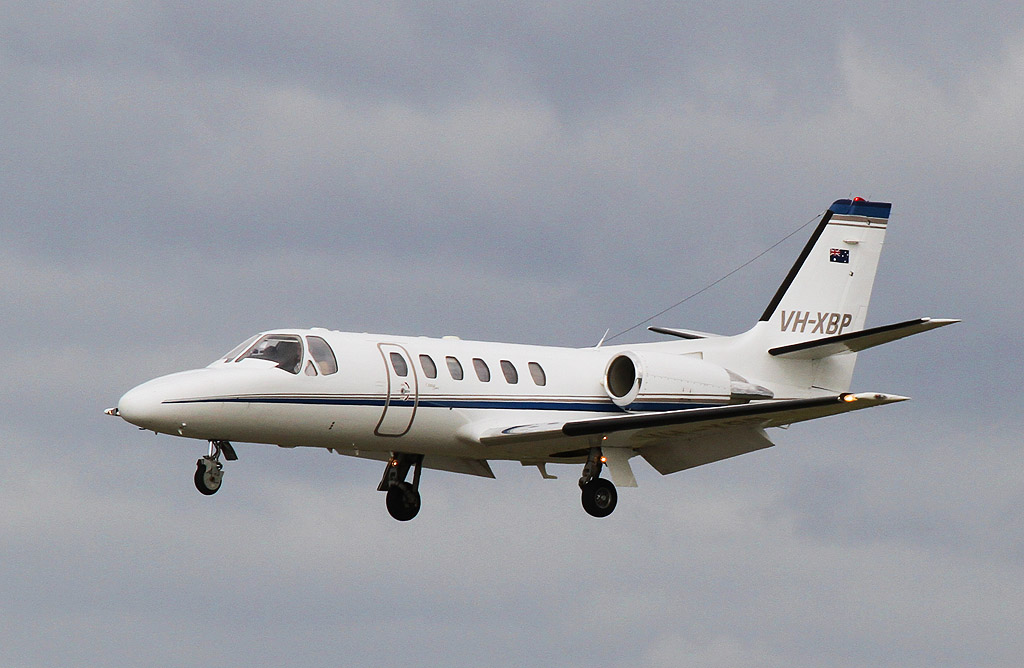 VH-XBP Cessna 550 Citation Bravo (cn 550-0810) of Maxem Aviation (leased from FMR Investments Pty Ltd) at Perth Airport - Wed 14 August 2013.