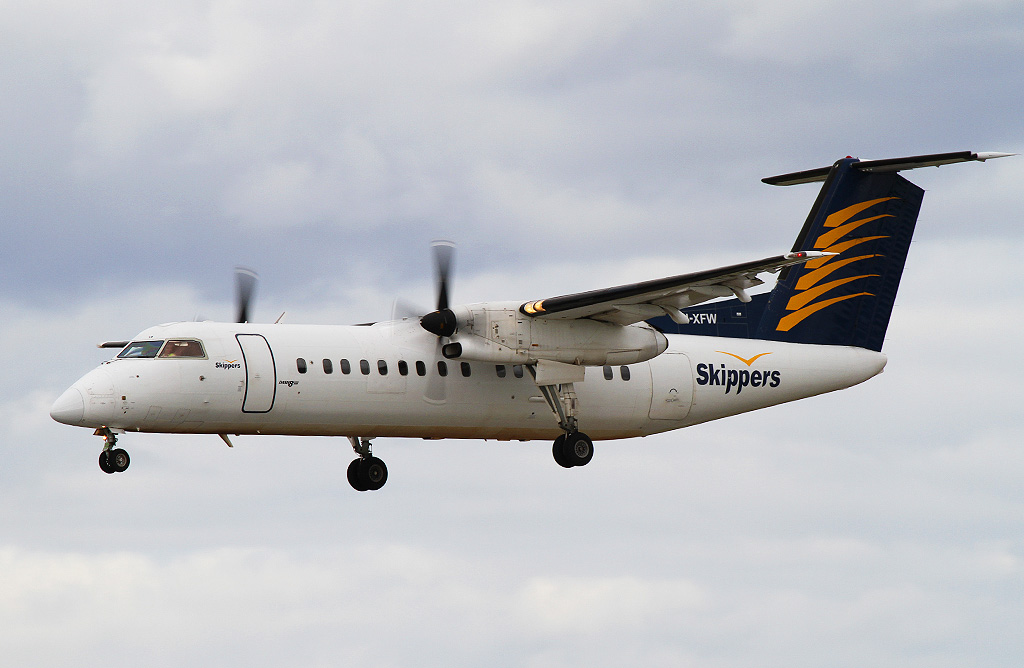 VH-XFW De Havilland Canada DHC-8-314 Dash 8 (cn 356) of Skippers Aviation at Perth Airport - Wed 14 August 2013.