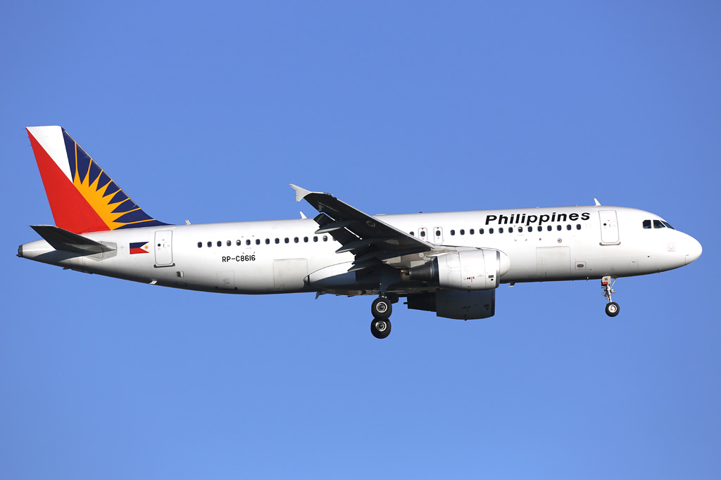 RP-C8616 Airbus A320-214 (cn 5081) of Philippine Airlines (leased from GECAS) at Perth Airport – Sat 24 August 2013.