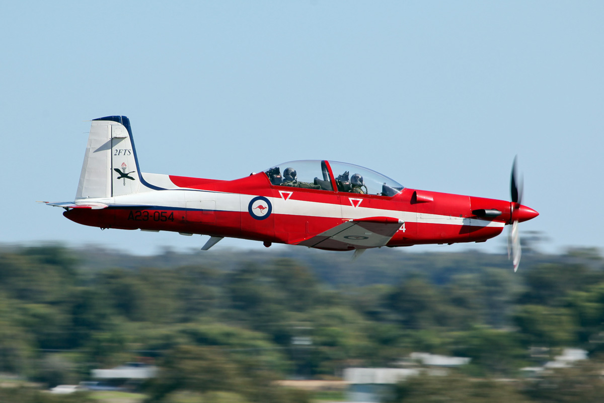 A23-054 Pilatus PC-9/A (cn 554) of RAAF 2 FTS, based at Pearce, at RAAF Pearce Air Show – Sun 20 May 2012.