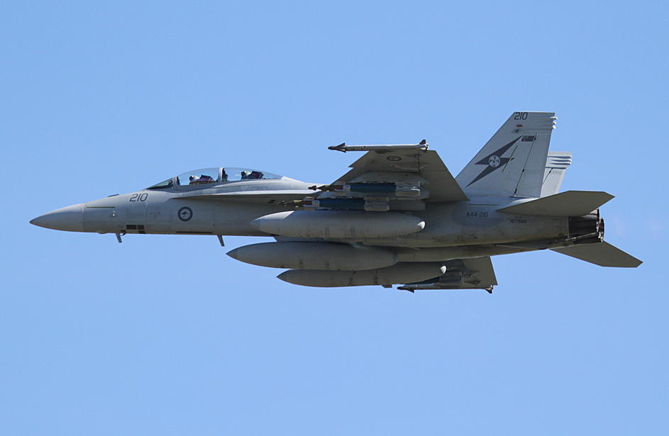 A44-210 Boeing F/A-18F Super Hornet (cn AF-10, ex 167966) of RAAF, 1 Squadron, Amberley, Queensland at RAAF Pearce Air Show - Sun 20 May 2012.