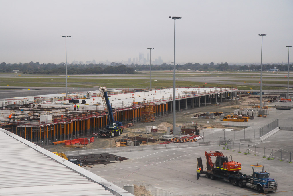 Domestic Pier under construction at Terminal 1, Perth Airport – Mon 2 September 2013.